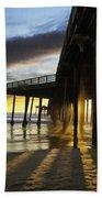 Pismo Pier Sunset IIi Beach Towel