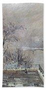 Pissarro: Louvre, 1902 Beach Towel