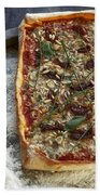 Pizza With Herbs Beach Towel