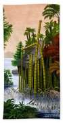 Plants Of The Triassic Period Beach Towel