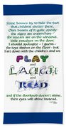 Play Laugh Read Beach Towel