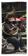 Playing The Tuba _ New Orleans Beach Towel