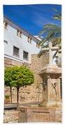 Plaza De La Iglesia In Marbella Beach Sheet