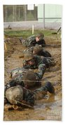 Plebes Low Crawl Under Barbwire As Part Beach Towel