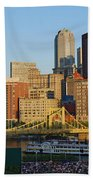 Pnc Park And River Boat Beach Towel