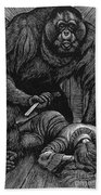 Poe: Rue Morgue, 1841 Beach Towel