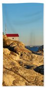 Point Atchison Lighthouse 2 Beach Towel