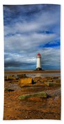Point Of Ayr Beach Beach Towel by Adrian Evans