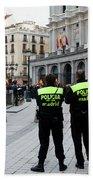 Policia Madrid Beach Towel