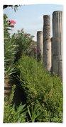 Pompeii Columns 2 Beach Towel