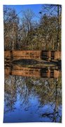 Pond Reflections Beach Towel