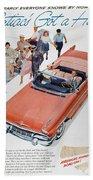 Pontiac Advertisement 1957 Beach Towel