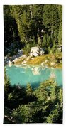 Pool In The Forest Beach Towel