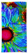 Pop Art Daisies 2 Beach Towel
