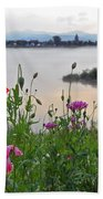Poppies By The River Beach Towel