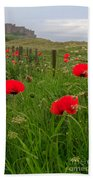 Poppies By The Roadside In Northumberland Beach Towel