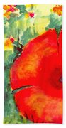 Poppies Face To The Sun Beach Towel