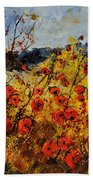 Poppies In Provence 456321 Beach Towel