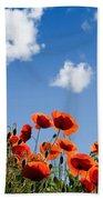 Poppy Flowers 05 Beach Towel by Nailia Schwarz