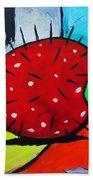 Porcupine Strawberry Beach Towel