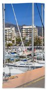 Port In Marbella Beach Towel