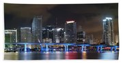 Port Of Miami Downtown Beach Towel