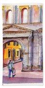 Porta Borsari Verona  First Century Ad Roman Gate Beach Towel