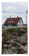 Portland Head Light Cape Elizabeth Fort Williams Maine Beach Towel