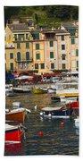 Portofino In The Italian Riviera In Liguria Italy Beach Towel