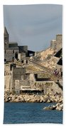 Portovenere's Church And Fortress Beach Towel