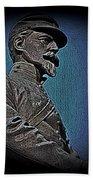 Portrait 29 American Civil War Beach Towel