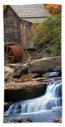 Portrait Of Glade Creek Mill Beach Towel