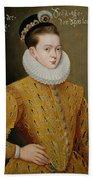 Portrait Of James I Of England And James Vi Of Scotland  Beach Towel