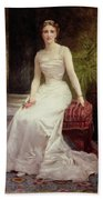 Portrait Of Madame Olry-roederer Beach Towel by William-Adolphe Bouguereau