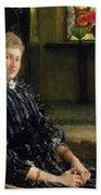 Portrait Of Mrs Ralph Sneyd Beach Towel