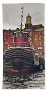 Portsmouth Tugs Beach Towel by Joann Vitali
