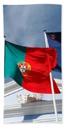 Portugal And Azores Flags Beach Sheet