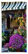 Positano Flower Shop Beach Sheet