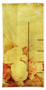 Postcard With Floral Pattern Beach Towel