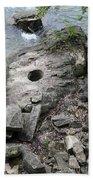 Pot Hole In Niagara River Beach Towel
