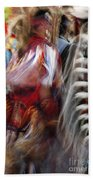 Pow Wow Dancer Beach Towel