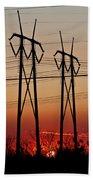 Power Towers At Sundown Beach Towel