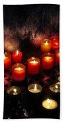 Prague Church Candles Beach Towel by Stelios Kleanthous