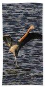 Prancing Heron Beach Towel