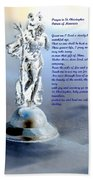Prayer To St Christopher Beach Towel