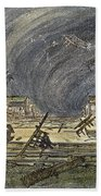 Kansas Cyclone, 1887 Beach Towel
