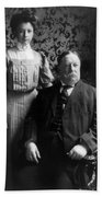 President William Howard Taft With Daughter Beach Towel by International  Images