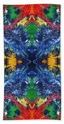 Primary Abstract I Design Beach Towel