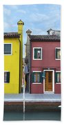 Primary Colors In Burano Italy Beach Sheet