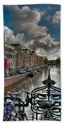 Prinsengracht And Leidsestraat. Amsterdam Beach Towel